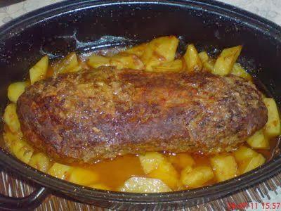Ρολό κιμά με πατάτες   tselemedes