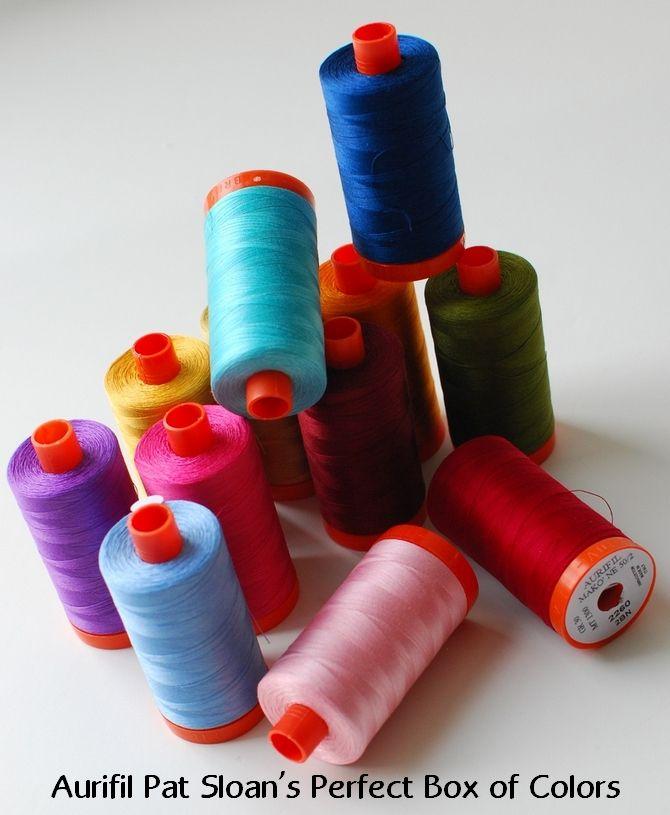 pat sloan perfect colors my new aurifil thread collection httpblog - Aurifil Thread Color Chart