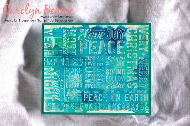 ATCAS - Watercolour theme - Merry Medley - Stampin' Up! Demonstrator in Australia Carolyn Bennie