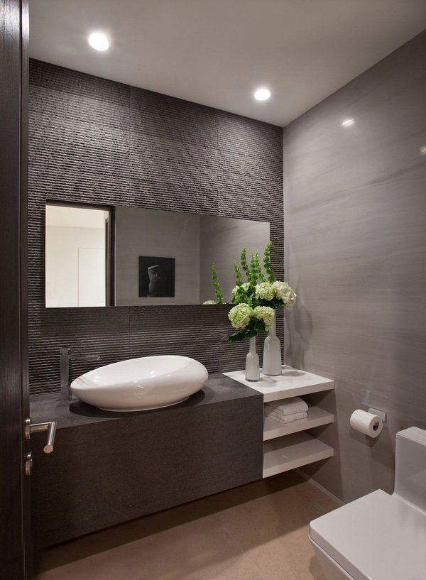 17 Best Ideas About Modern Powder Rooms On Pinterest