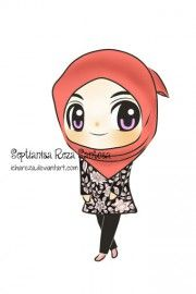 Chibi Drawings (Cute Muslim Characters) - Muslim Manga and Anime Drawings | IslamicArtDB.com | Page 4