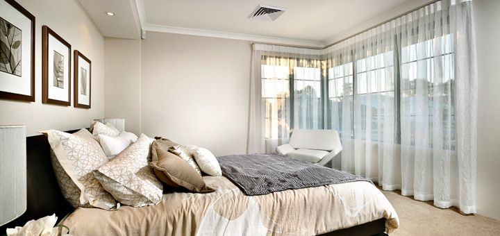 Master Bedroom with wonderful windows, huge walking robe and over 3.5 metres of ensuite bench.