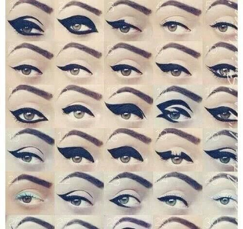 Eyeliner styles | hair and makeup ideas