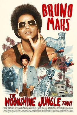 Munk One Bruno Mars Moonshine Jungle Tour Poster And my t-shirt!