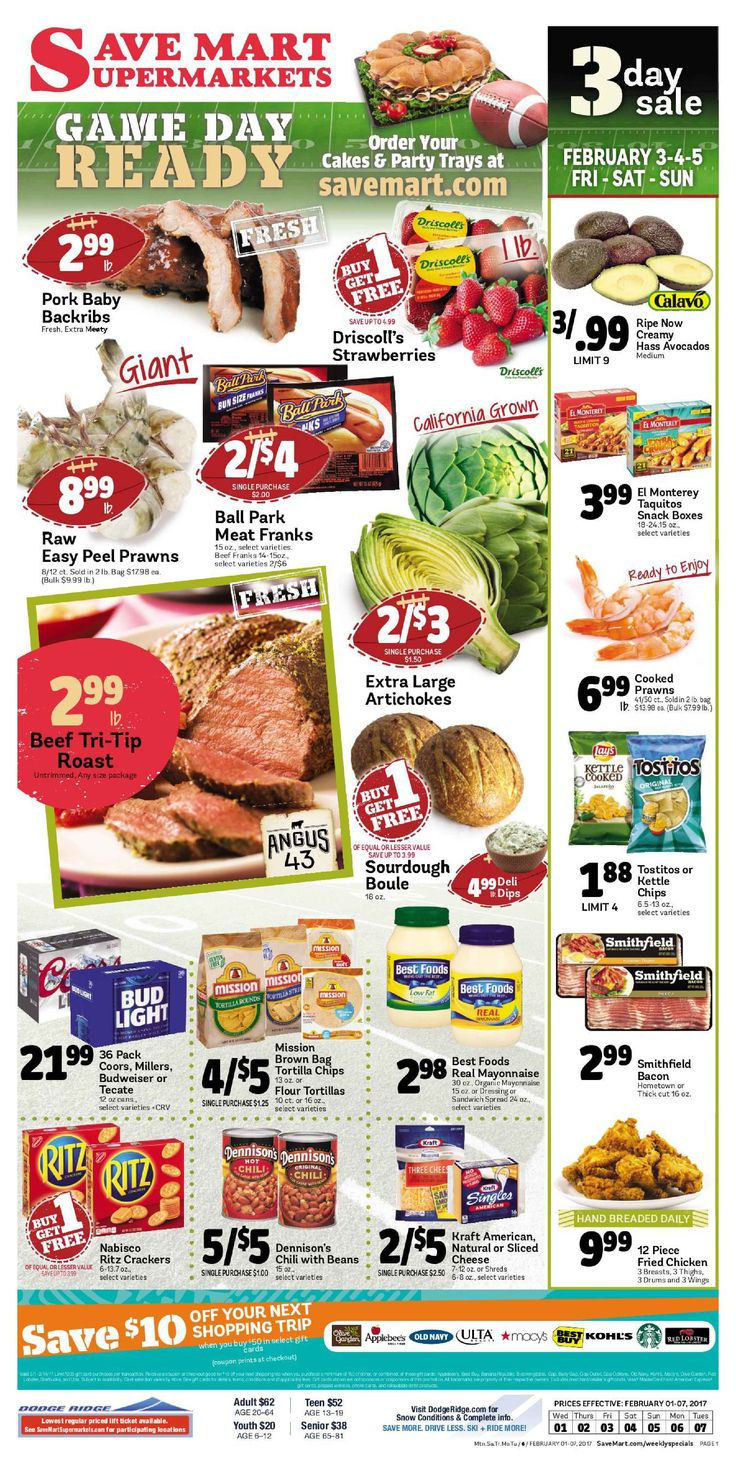 Save Mart Weekly ad February 1 - 7, 2017 - http://www.olcatalog.com/save-mart/save-mart-weekly-ad.html