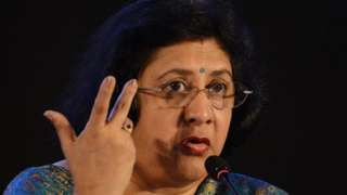 """Image copyright                  Getty Images                  Image caption                                      Arundhati Bhattacharya says real progress will take a few more years                                """"Things are changing – but I don't think enough has happened."""" Arundhati Bhattacharya is talking about the need for more women on"""