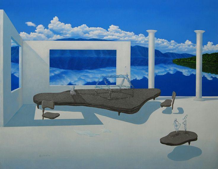 "M. Zikri, "" Panorama Lantai 1"", AOC , 145 x 200 cm, 2009"