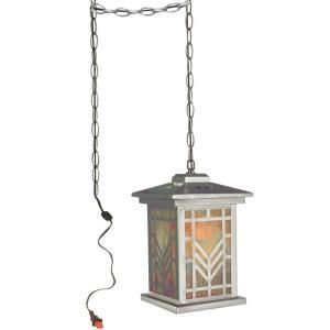 Tiffany Multi Color Imperial 1-Light Hanging Antique Brass Mini-Pendant Lamp-STH11021 at The Home Depot