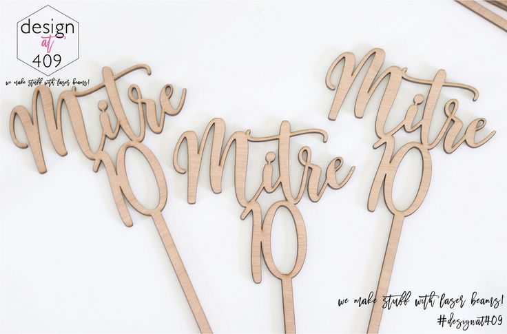 Mitre 10 Wooden Table Markers : Design at 409