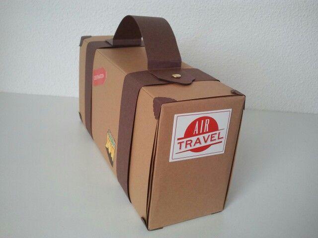 Zijkant van de koffer.