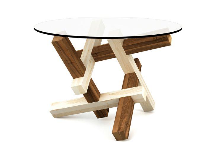 2x3 Round Wooden Puzzle Coffee Table - FREE SHIPPING to EU - by Praktrik