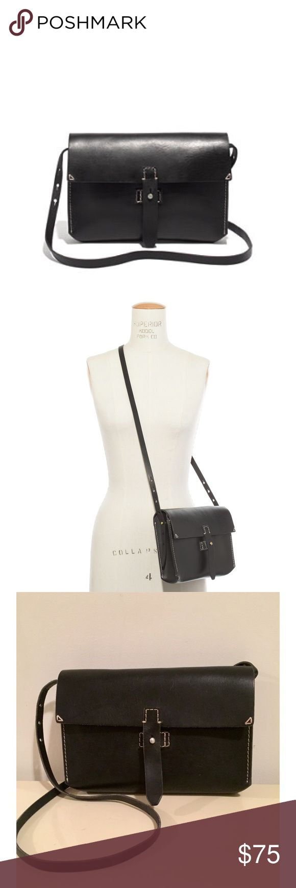 """Madewell • The Dover Crossbody Bag In excellent condition and only used twice. Interior is clean. A few very minor surface marks otherwise no issues!  -Leather -Removable, adjustable shoulder strap -Collar stud closure -17 3/4"""" handle drop -6 1/4""""H x 10""""W x 2""""D -Any questions, please ask!  Madewell describes: this ruggedly cool crossbody was inspired by military style—and made to last and last. The strap is adjustable and removable (so you can carry it as a clutch). Closes with one of our…"""
