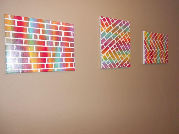 23 best diy canvas art images on pinterest creative ideas easy diy painted bricks canvas art solutioingenieria Choice Image