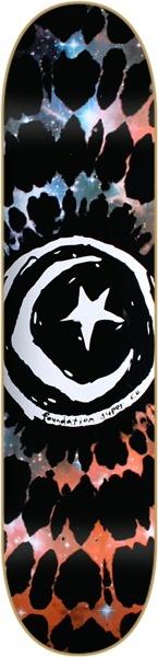 "Foundation Astral S Black / Blue Tie Dye Skateboard Deck - 8.12"" x 31.5"" - Foundation Skateboards Decks - Warehouse Skateboards Skate Shop"