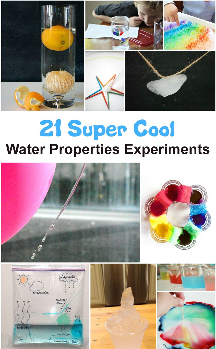 These are amazingly fun water properties science experiments. Perfect for the summer!
