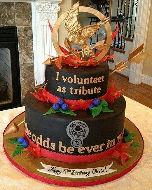 Hunger Games Cake. Wish I could have that for my birthday.