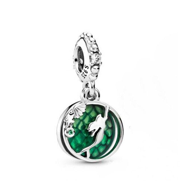 925 Sterling Silver Disney Park Aurora's Fairy Godmother Enamel European Charm