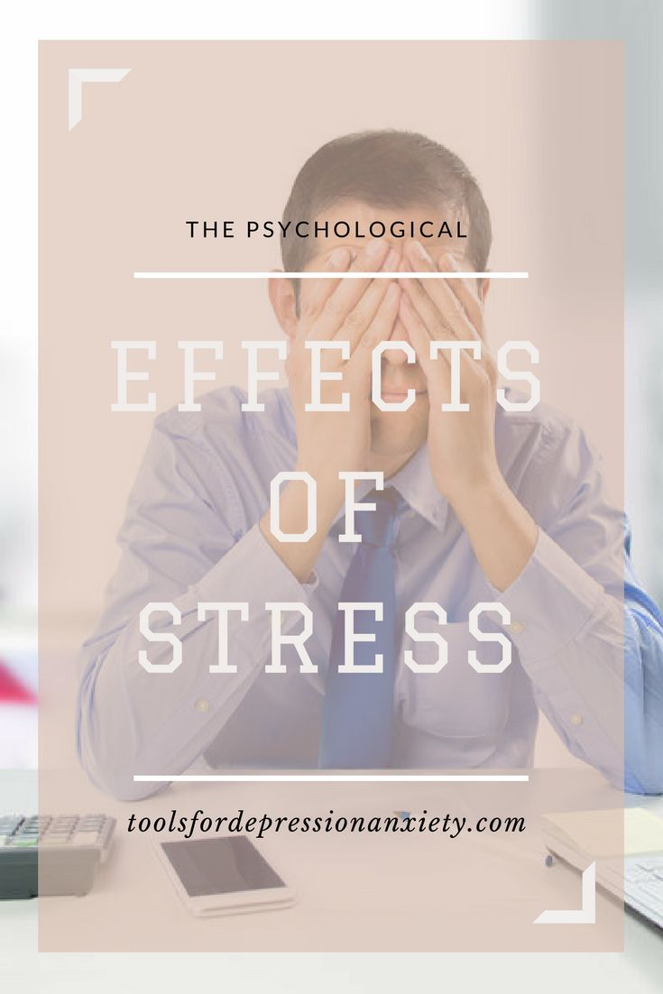 """Stress is a response to stimuli from your environment that you perceive as causing change to the status quo. Just a fancy way of saying that stress causes changes in your body that are physical and psychological. Effects of stress are varied and can vary even within the individual from situation to situation. Keep reading for information on the psychological effects of stress."""