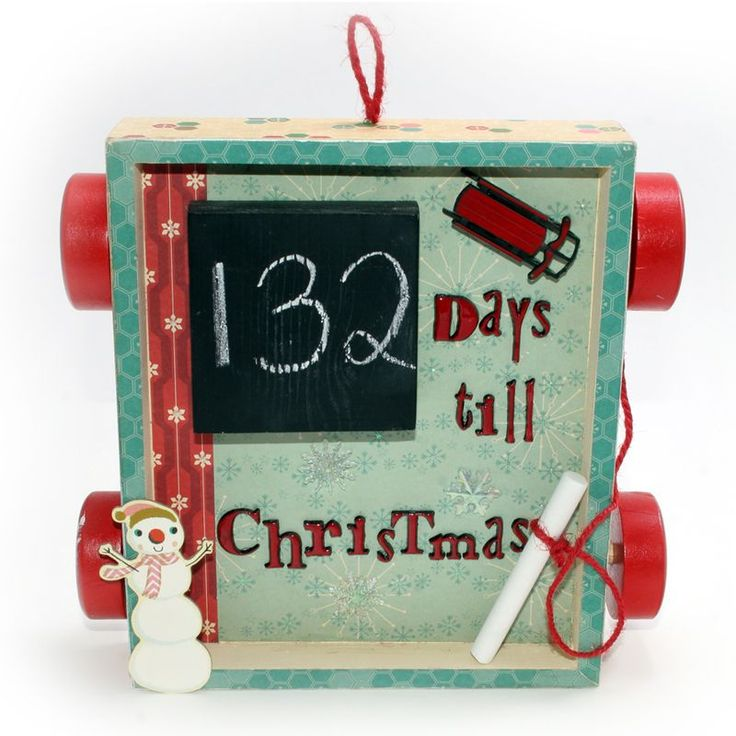 Chalkboard Christmas Countdown: Christmas Countdown, Help Me, Crafts Ideas, Cosmo Cricket, Chalkboards Christmas, Attention Span, Fantastic Frames