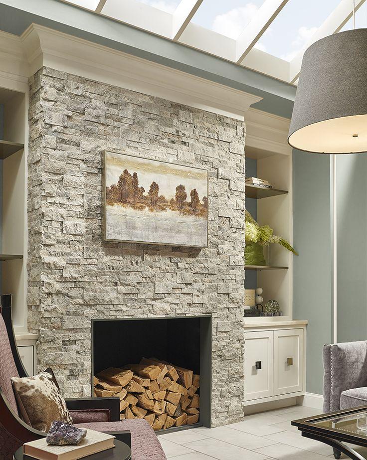 Reclaimed Wood Wall Living Room Rustic