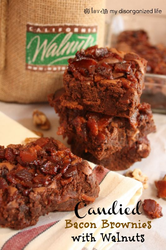 Candied Bacon Brownies with Walnuts on MyRecipeMagic.com