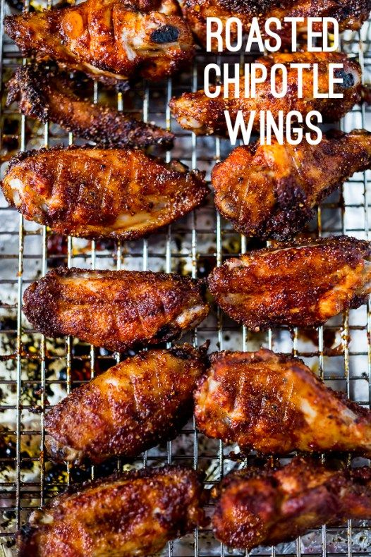 Roasted Chipotle Wings w/ Creamy Cilantro Dipping Sauce