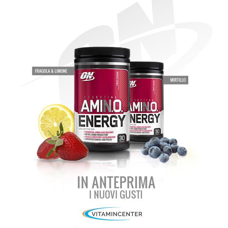 Optimum Nutrition con i NUOVI GUSTI di Amino Energy Fragola&Limone e Mirtillo! http://www.vitamincenter.it/essential-amino-energy-270-g.html #limone #mirtillo #fragola #aminoacido #sports #shops #integratore