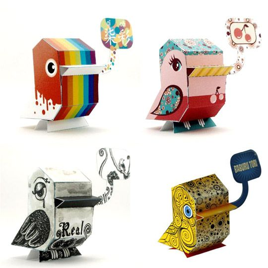 Paper toys from Nanibird
