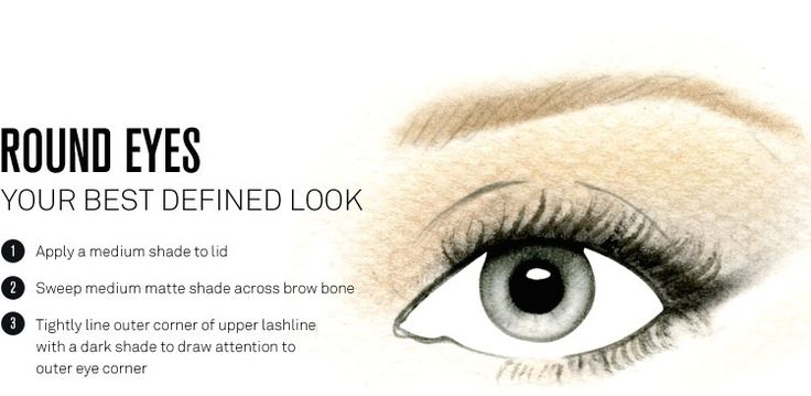 Round Eye makeup placement DEFINED LOOK, personal favourite