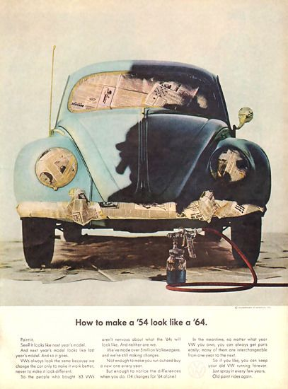 VW Volkswagen Make A 1954 Look Like A 1964 - Mad Men Art: The 1891-1970 Vintage Advertisement Art Collection