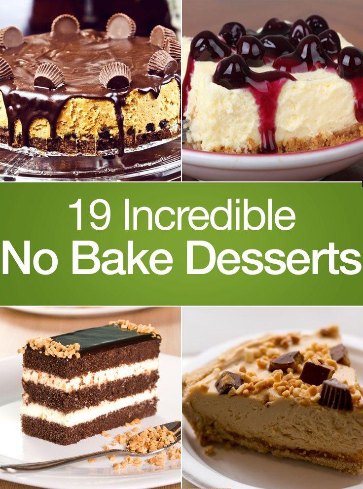 19 Incredible No Bake Desserts