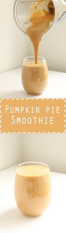 Healthy Pumpkin Pie Smoothie. So delicious, tastes just like desert!