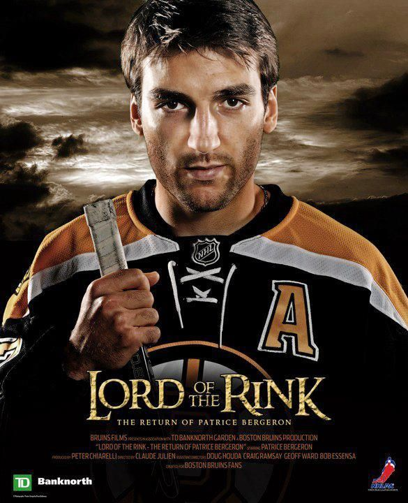 Patrice Bergeron...Lord of the Rink! Haha! Rooting for the Boston Bruins in game 4 against the New York Rangers! BOSTONSTRONG! http://tilissports.com