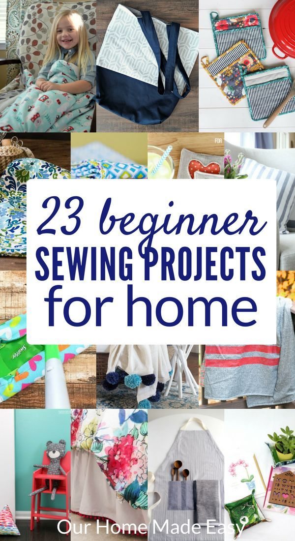 Here are 23 simple sewing projects that you can do as a beginner! Everyone is perfect …   – Blogger Sewing Patterns We Love
