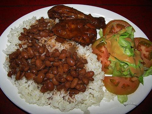 La Bandera - typical Dominican meal