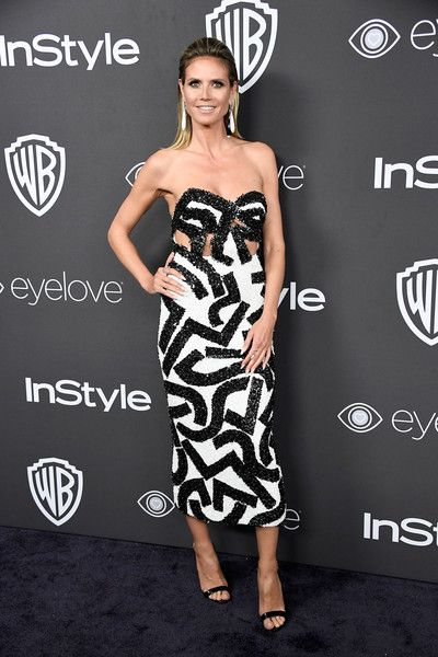 Heidi Klum Photos Photos - Actress Heidi Klum attends the 18th Annual Post-Golden Globes Party hosted by Warner Bros. Pictures and InStyle at The Beverly Hilton Hotel on January 8, 2017 in Beverly Hills, California. - Warner Bros. Pictures and InStyle Host 18th Annual Post-Golden Globes Party - Arrivals