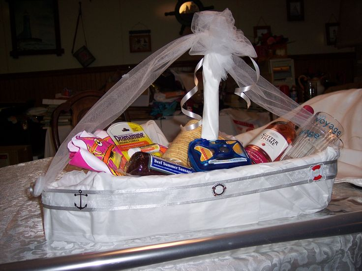 Disney Wedding Gift Basket : Honeymoon Cruise gift basket-cute were thinking week long cruise for ...
