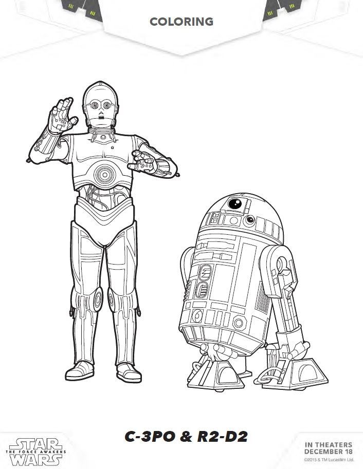 Star Wars Coloring Pages Activity Sheets And More