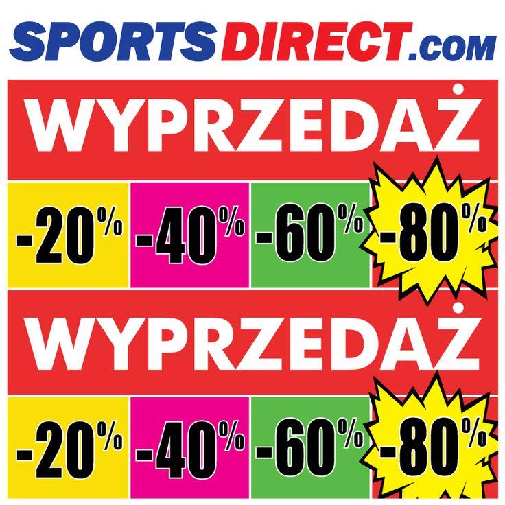 WYPRZEDAŻ w SportsDirect.com! Wybrane produkty nawet do -80%!Przyjdź i wybierz coś dla siebie! ZAPRASZAMY!'