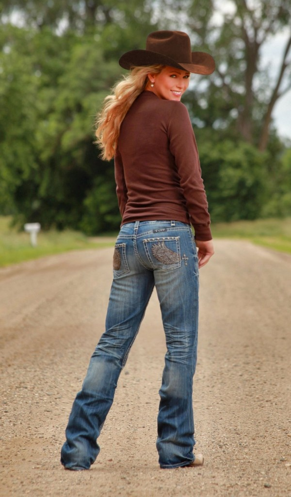 Wing & A Prayer Cowgirl Tuff jeans. 5 dollars from every pair sold is donated to Western Wishes.