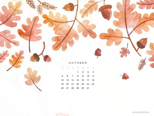 iPad - October Calendar 2014 | por oanabefort