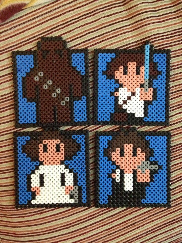 Star Wars  coasters hama beads by Irema Diadema