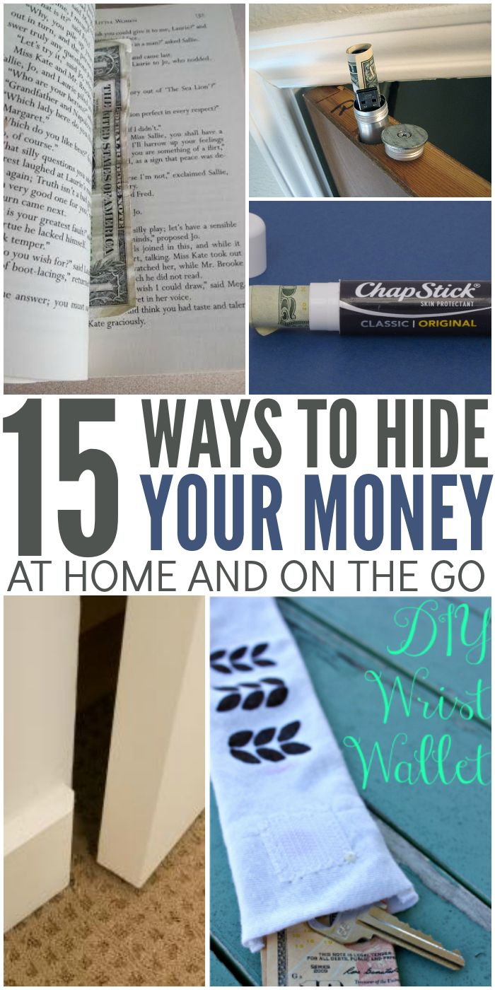15 Smart Ways to Hide Your Money At Home and On The Go