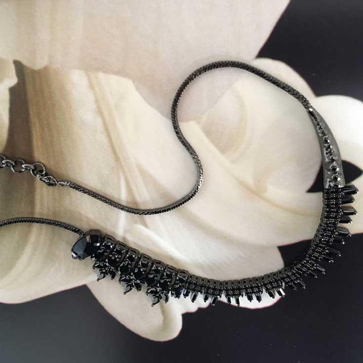 Black on Black Memento Necklace #IOSSELLIANI