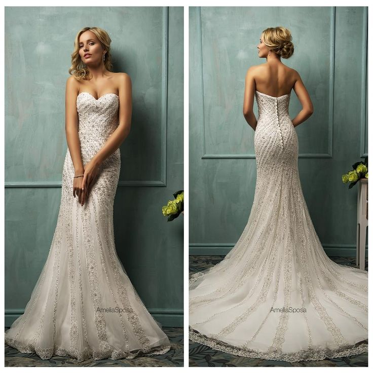 1000 ideas about mermaid wedding gowns on pinterest for Backless wedding dresses online