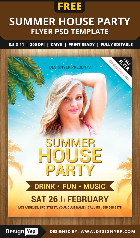 summer beach party free flyer psd template http freepsdflyer com