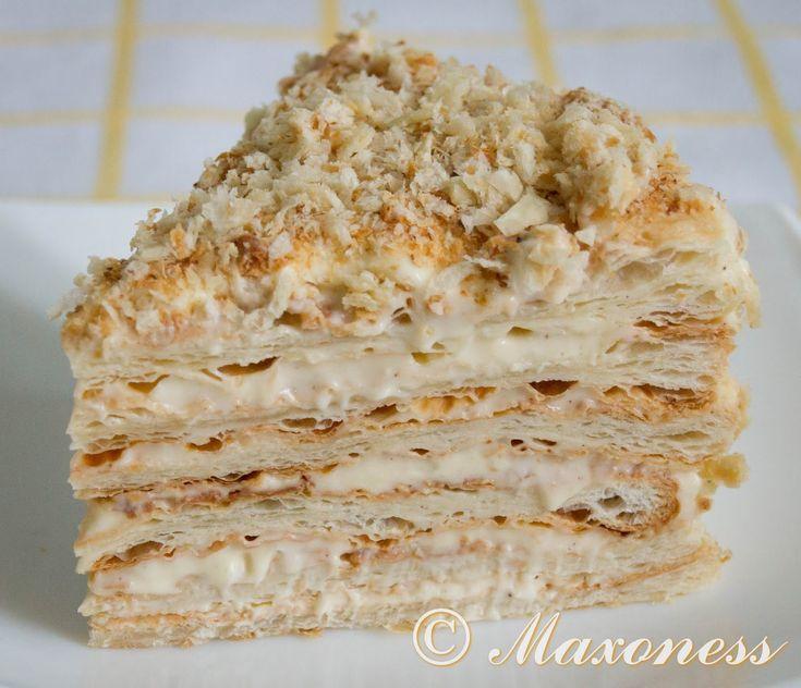 Торт «Наполеон» из слоёного теста