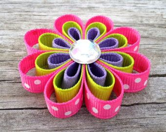 Popsicle Hair Clip Summer Hair Clip Popsicle Ribbon by leilei1202