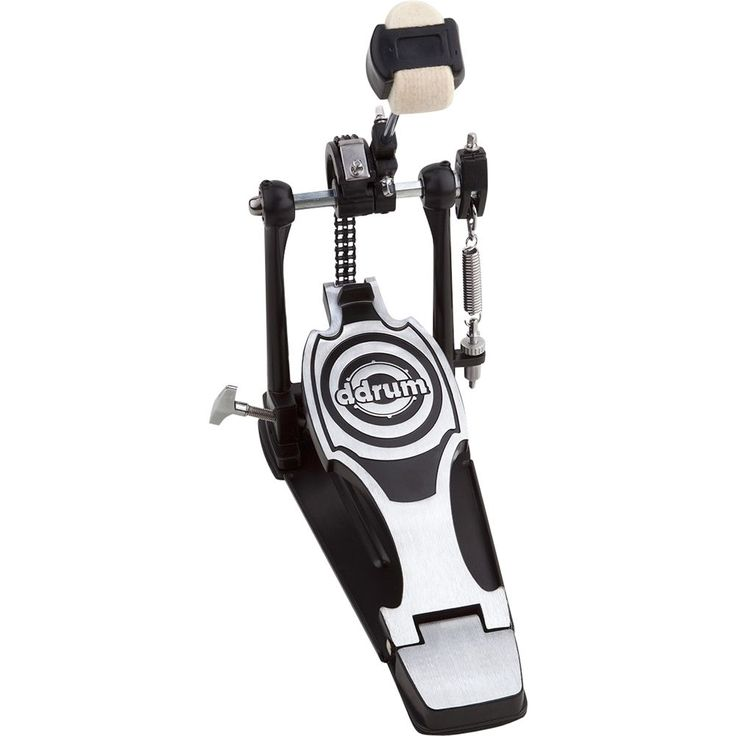 ddrum - RX Series Single Bass Drum Pedal - Black and Chrome