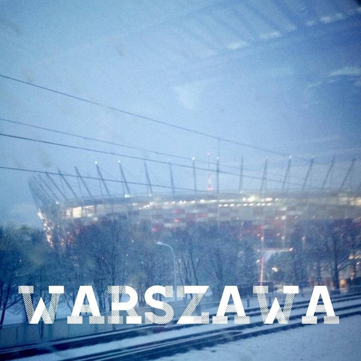 Stadion Narodowy zimą